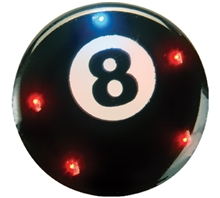 Blinking 8 Ball Pin