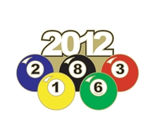 2012 Pool Ball Pin