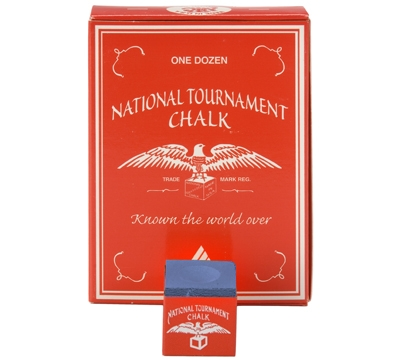 Blue National Tournament Billiard Chalk – Box/12