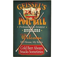 Pool Hall Personalized Sign