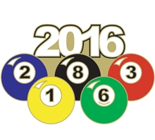 2016 Pool Ball Pin