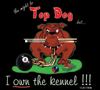 Dead Stroke Pool T Shirt Top Dog Mueller S Billiard