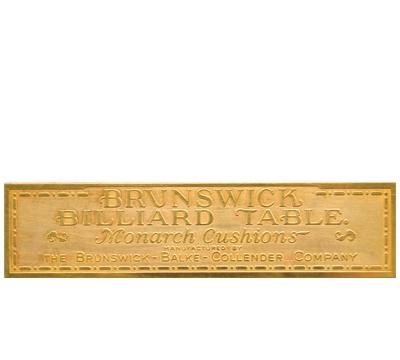 Solid Brass Brunswick Rail Plate 1912-1930