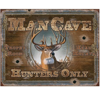 Hunters Man Cave Metal Sign