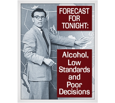 Tonight's Forecast Metal Sign