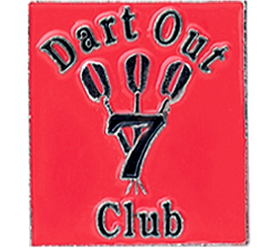 7 Dart Out Club Pin