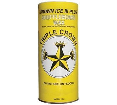 Brown Ice III Plus Shuffleboard Wax