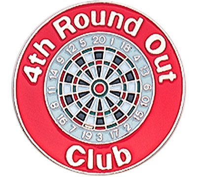 4th Round Out Club Pin