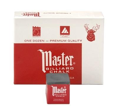 Charcoal Master Billiard Chalk – Box/12