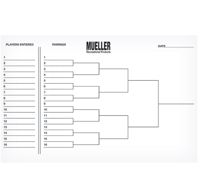 Individual Tournament Sheet - Mueller's Billiard & Dart Supplies