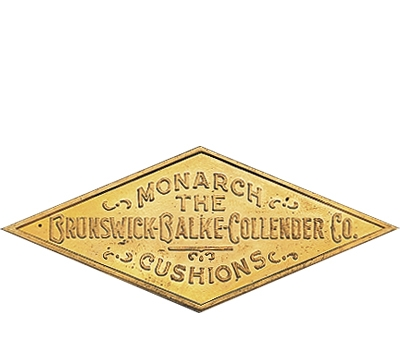 Solid Brass Brunswick Rail Plate 1900-1938