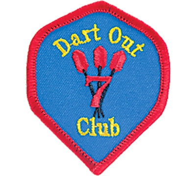 7 Dart Out Club Patch