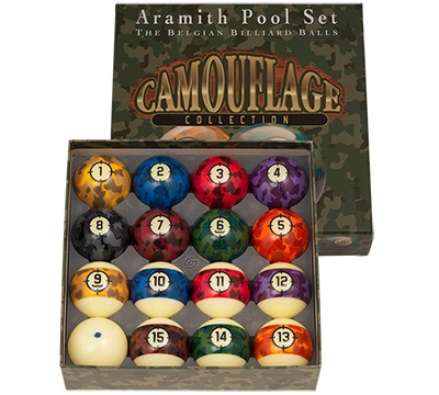 "Aramith Camouflage Balls 2-1/4"""
