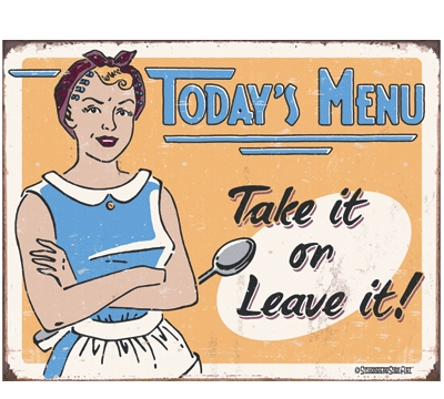 Today's Menu Metal Sign