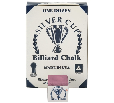 Wine Silver Cup Billiard Chalk – Box/12