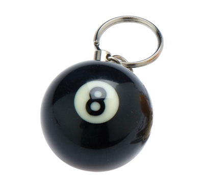 "1.25"" Pool Ball Keychain"
