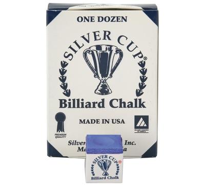 Royal Blue Silver Cup Billiard Chalk – Box/12
