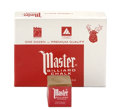 Brown Master Billiard Chalk – Box/12