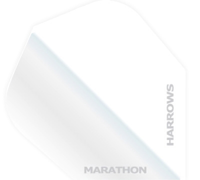 White Marathon Hard Poly Standard Flight