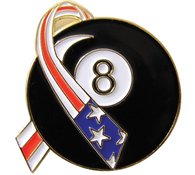 8-Ball Americana Pool Pin