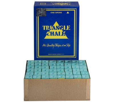 Green Triangle Billiard Chalk – Box/144