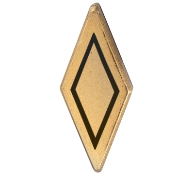 Metal Diamond Antique Brass