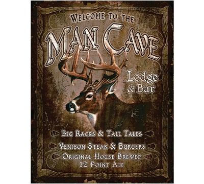 Man Cave Lodge Metal Sign