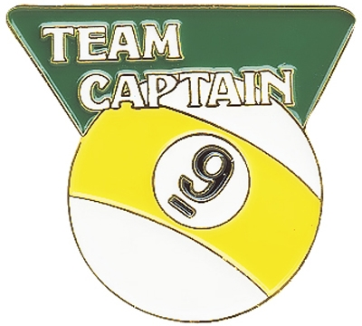 9-Ball Team Captain Pin