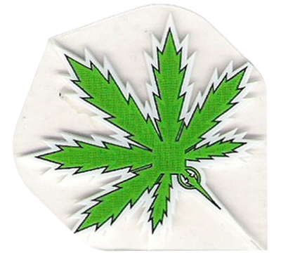 Green Hemp Leaf Poly Met Flight