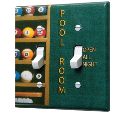 Pool Room Double Switchplate Cover