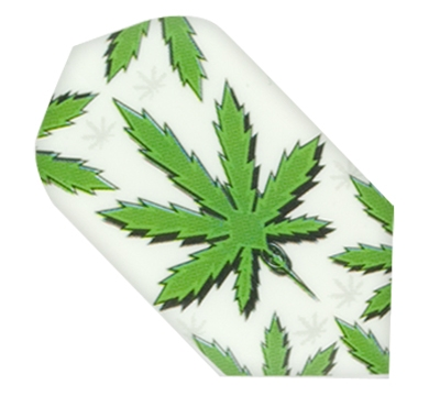 Hemp Leaf Hard Poly Slim Flight