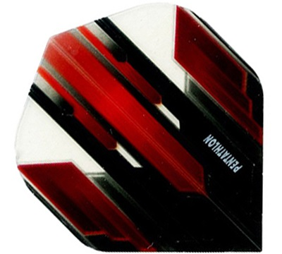 Pentathlon Poly Flight - Transparent Red/Black