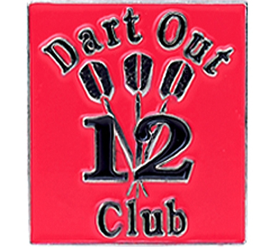 12 Dart Out Club Pin