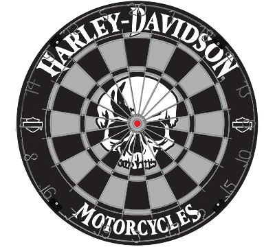 Harley-Davidson Skull Bristle Dartboard