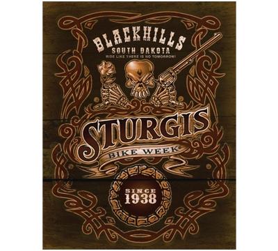 Blackhills Sturgis Metal Sign