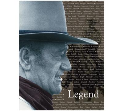 John Wayne Legend Metal Sign