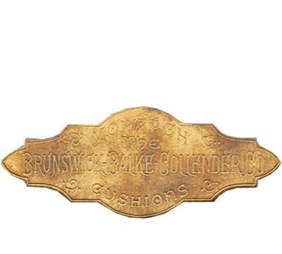 Solid Brass Brunswick Rail Plate 1884-1906