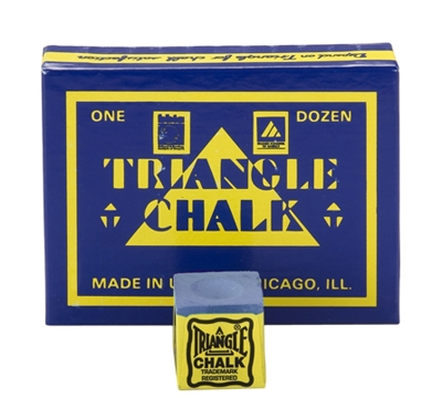 Blue Triangle Billiard Chalk – Box/12