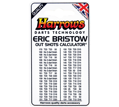 Eric Bristow Out Shots Chart