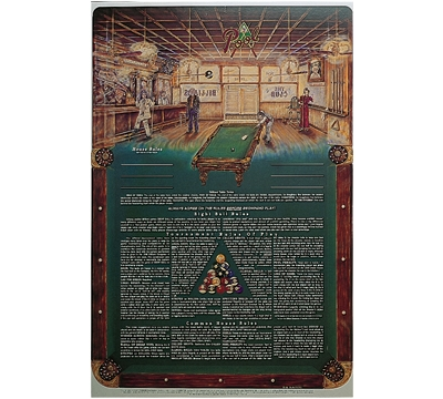 Pool Rules Laminated Poster