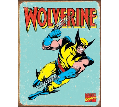 Wolverine Retro Metal Sign