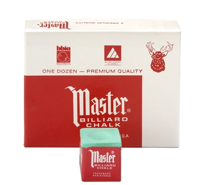 Green Master Billiard Chalk – Box/12