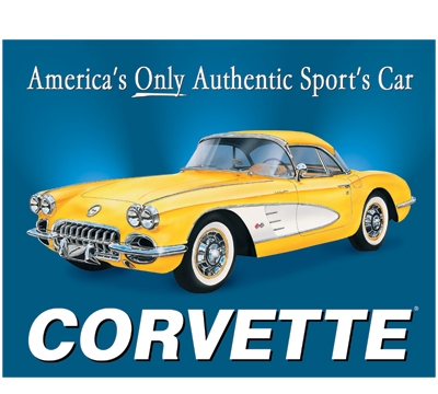 Corvette Metal Sign