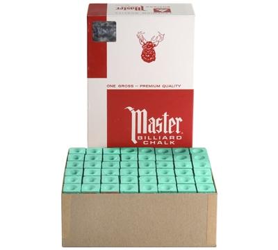 Green Master Billiard Chalk – Box/144