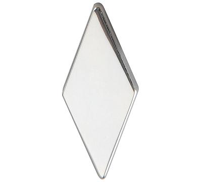 Metal Diamond Polished Silver