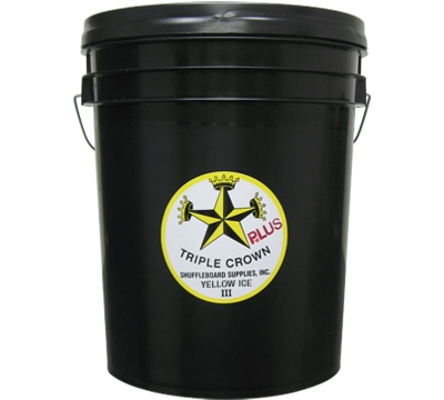 Yellow Ice III Shuffleboard Wax Bucket