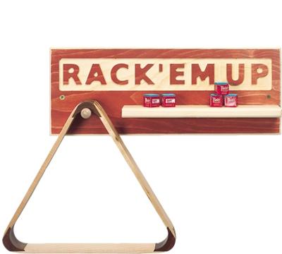 Rack 'Em Up Wood Sign