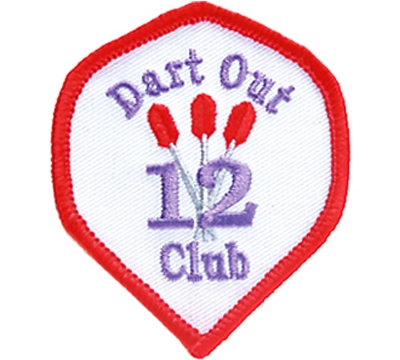 12 Dart Out Club Patch