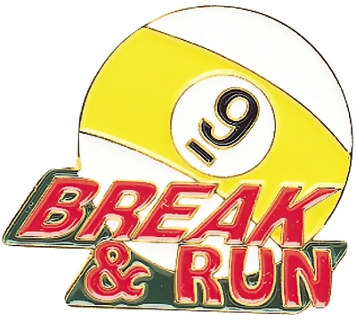 9-Ball Break & Run Pin