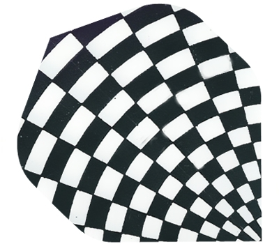 Black/White Checker Hard Poly Flight